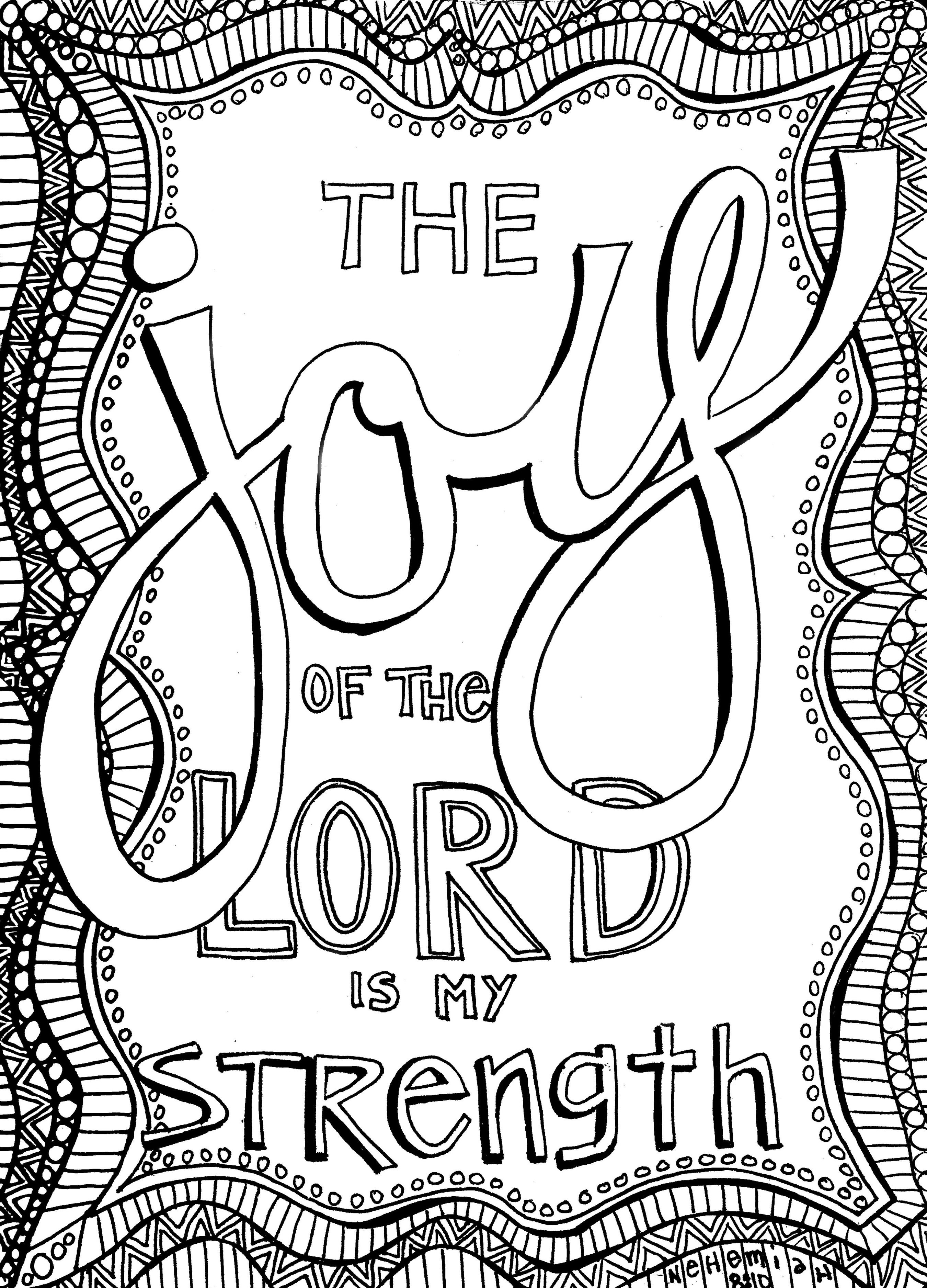 Free Christian Coloring Pages For Adults - Roundup   Bible - Free Printable Bible Verses Adults