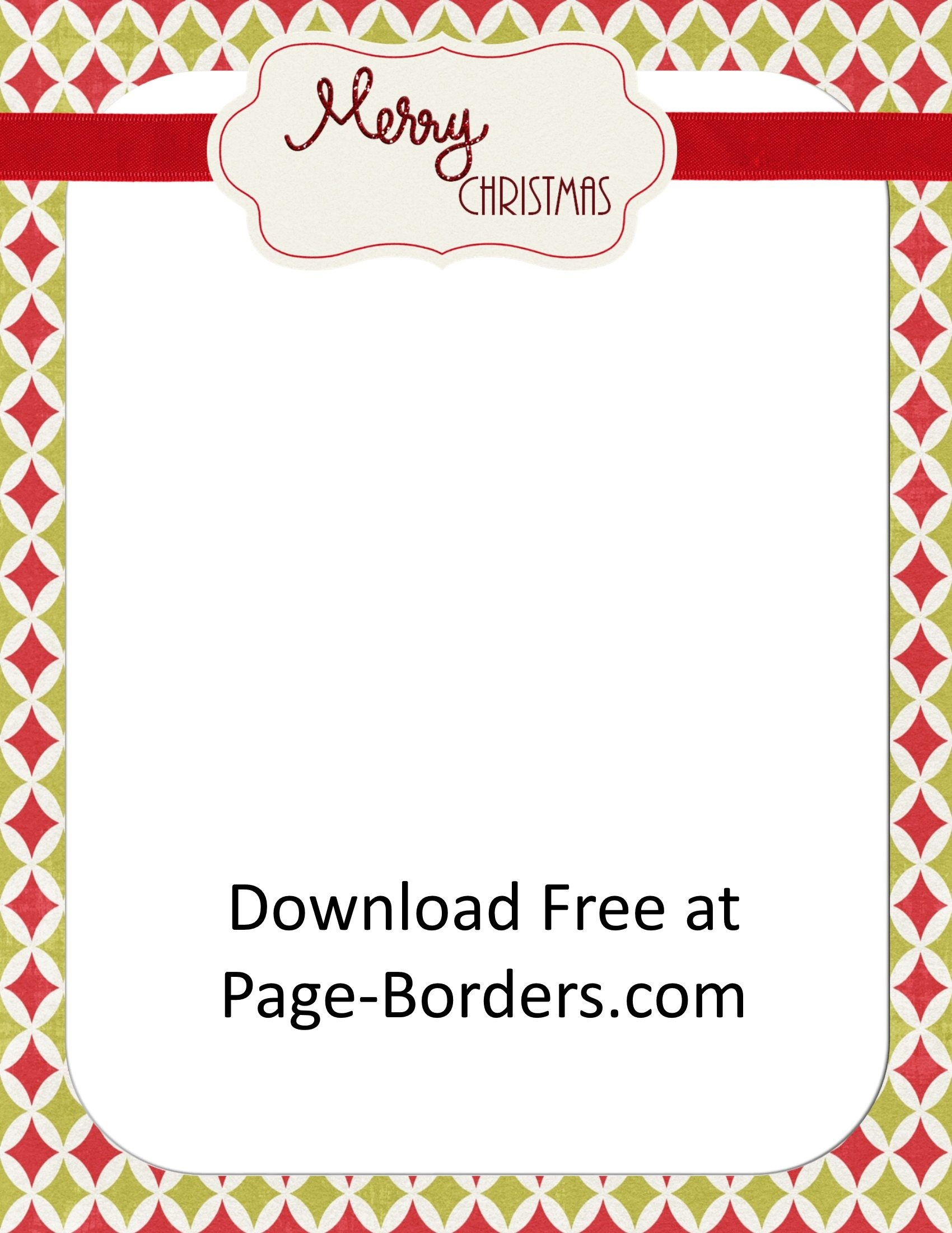 Free Christmas Border | Customize Online | Personal & Commercial Use - Free Printable Christmas Borders
