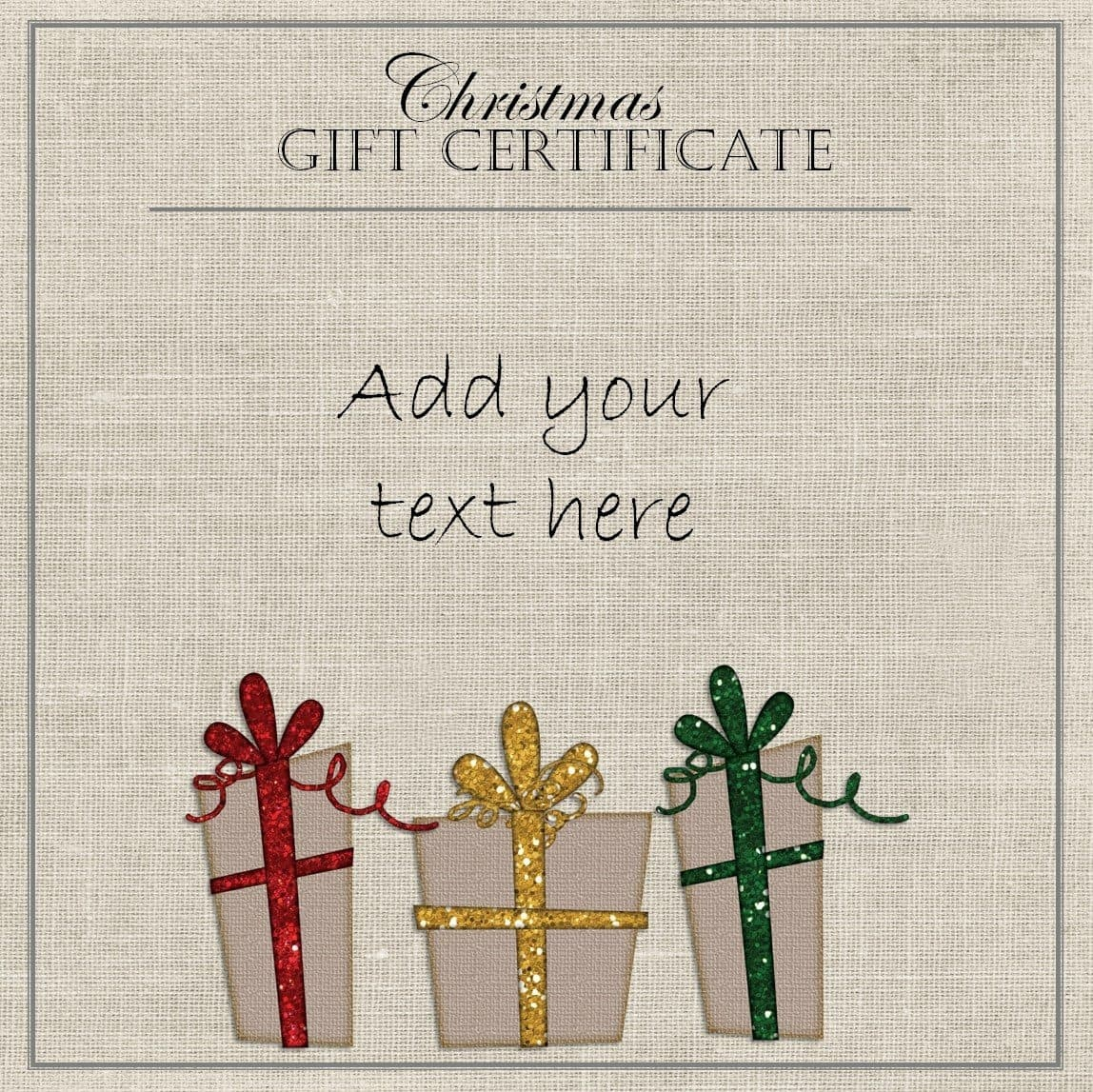 Free Christmas Gift Certificate Template | Customize Online & Download - Free Printable Xmas Gift Certificates