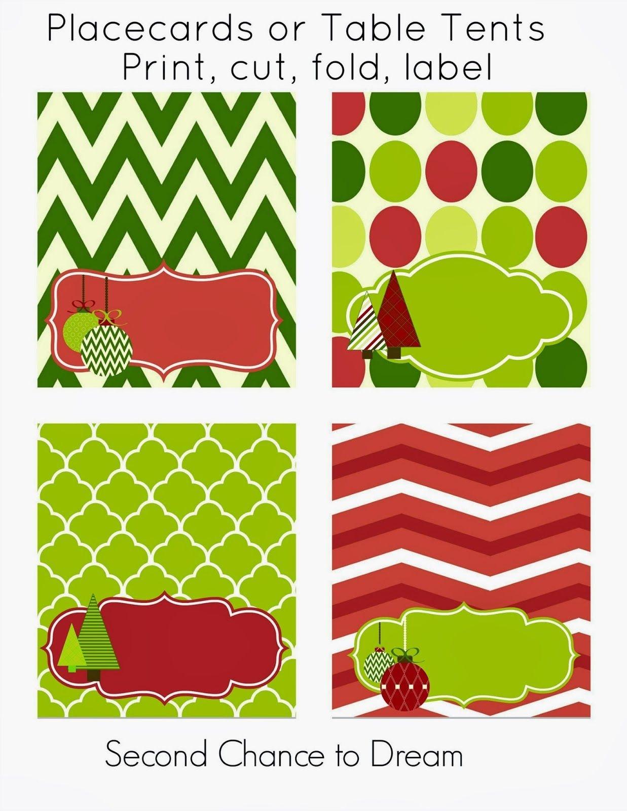 Free Christmas Party Printables   Printables   Free Christmas - Free Printable Christmas Tent Cards