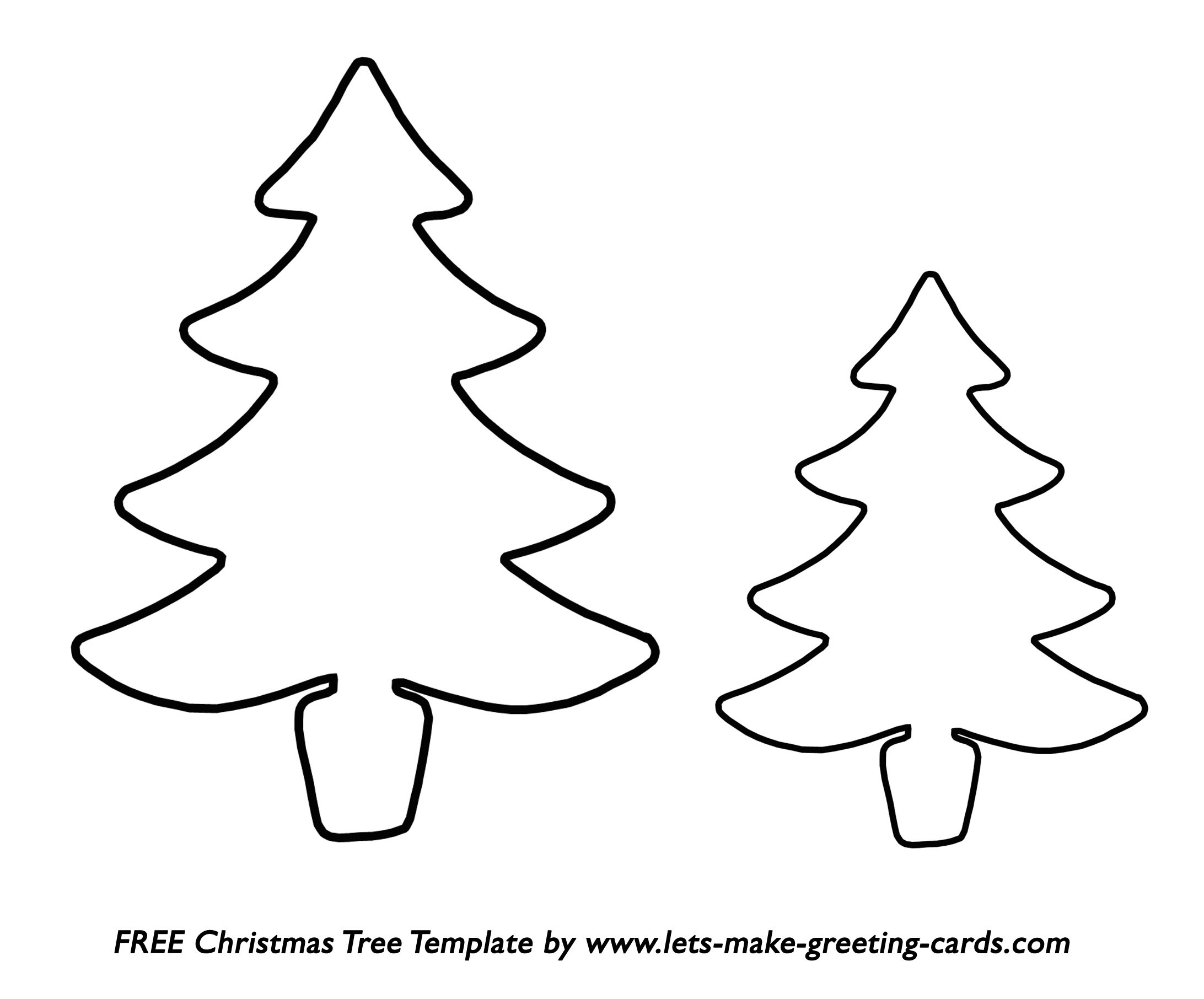Free Christmas Tree Template. Free Christmas Card Ideas. - Free Printable Christmas Tree Template