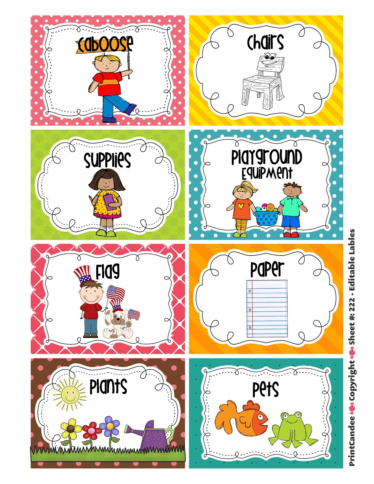 Free Classroom Helpers Cliparts, Download Free Clip Art, Free Clip - Preschool Classroom Helper Labels Free Printable