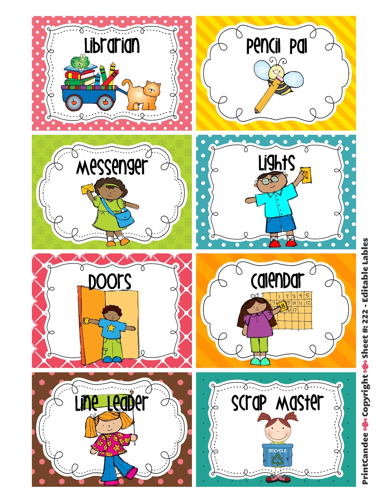 Free Classroom Job Clipart, Download Free Clip Art, Free Clip Art On - Preschool Classroom Helper Labels Free Printable