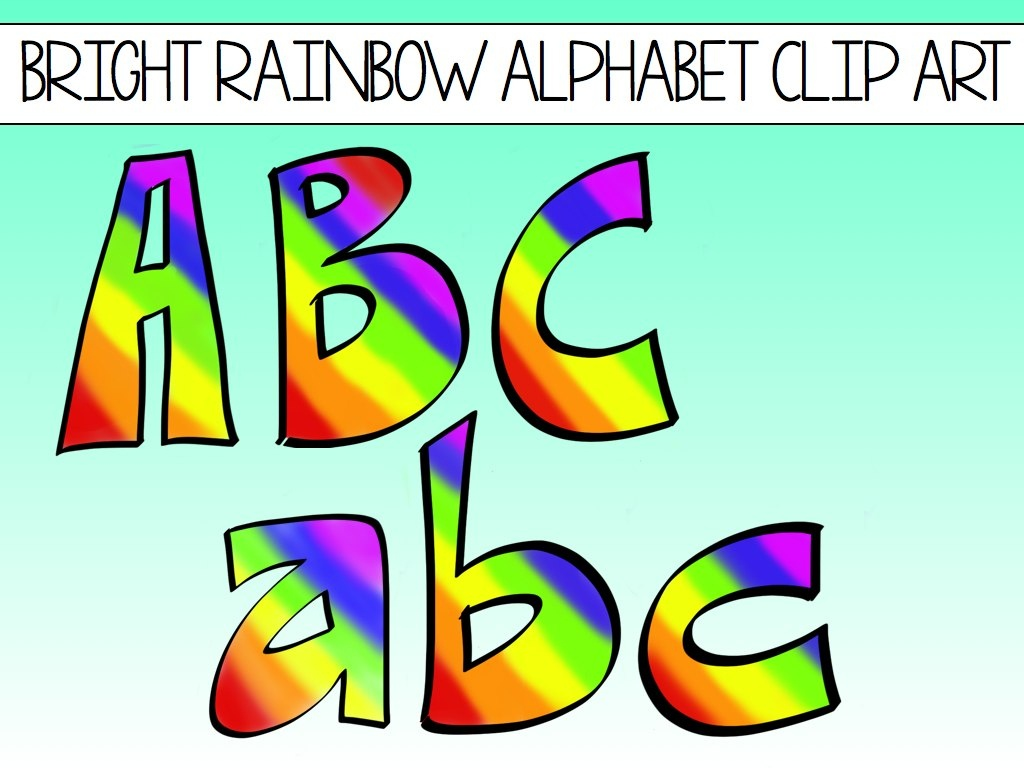 Free Clipart Letters And Numbers | Free Download Best Free Clipart - Free Printable Rainbow Letters