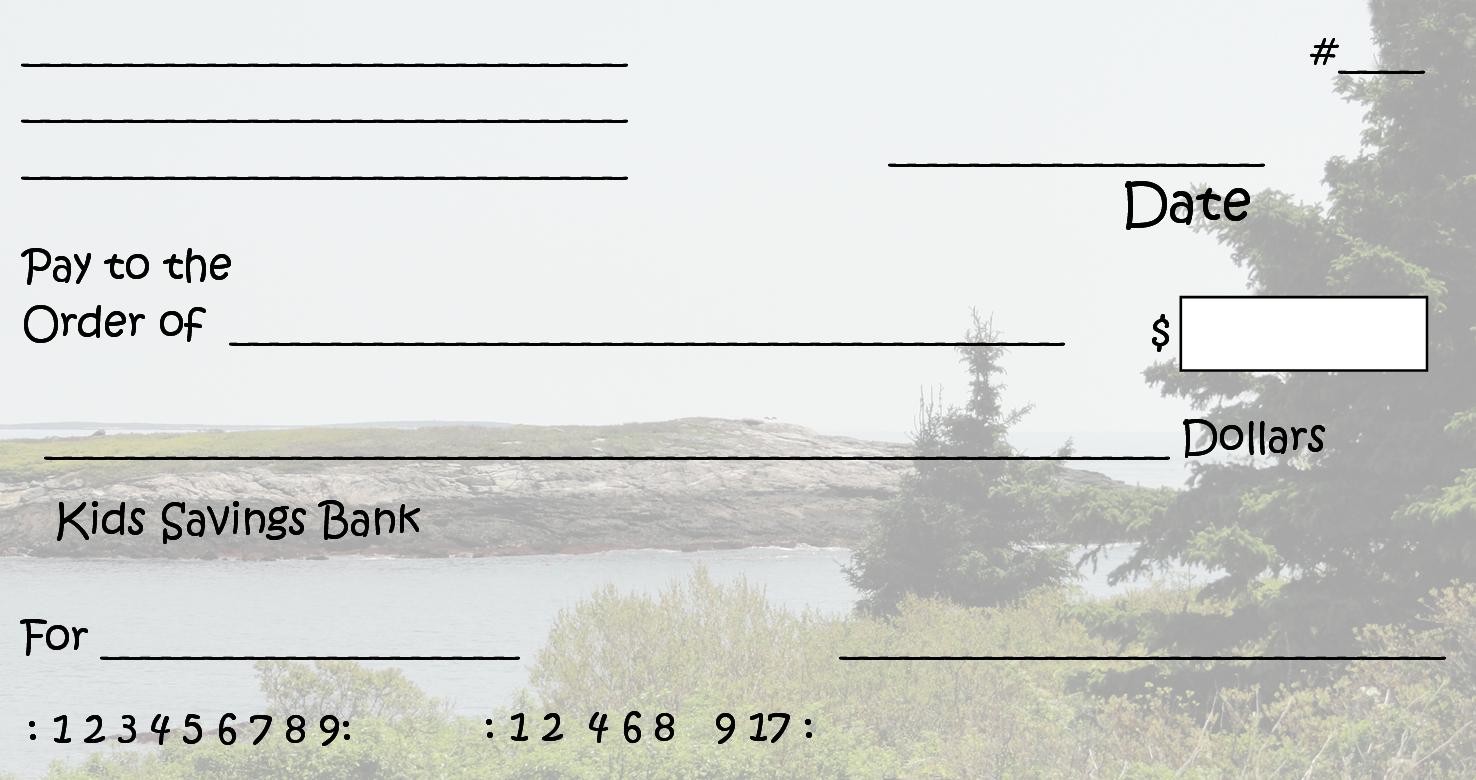 Free Clipart N Images: Printable Pretend Checks For Kids - Free Printable Play Checks