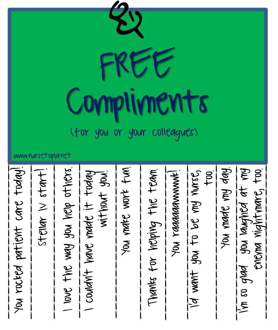 Free Compliments | Nurses | Nurses Week Gifts, Nurse Appreciation - Nurses Week 2016 Cards Free Printable