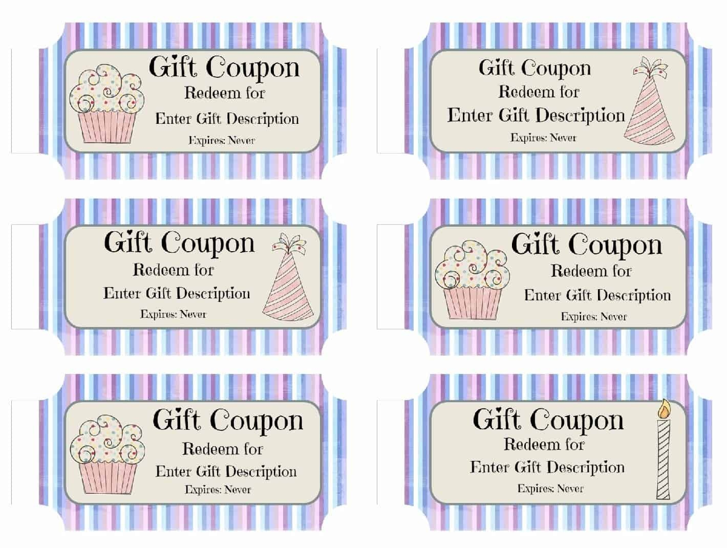 Free Custom Birthday Coupons - Customize Online & Print At Home - Free Sample Coupons Printable