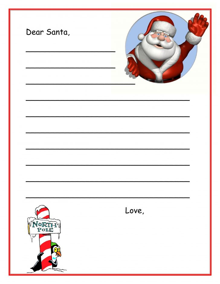 Free Printable Dear Santa Stationary