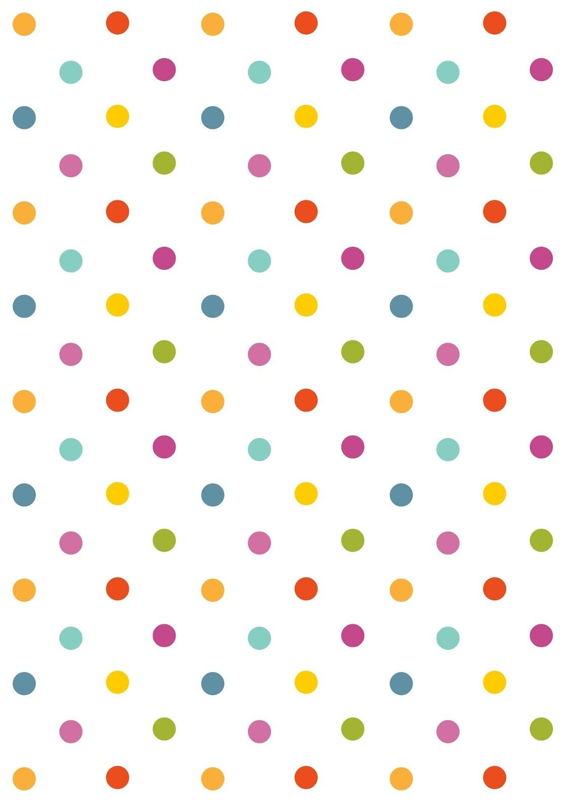 Free Digital Polka Dot Scrapbooking Paper - Ausdruckbares - Free Printable Backgrounds