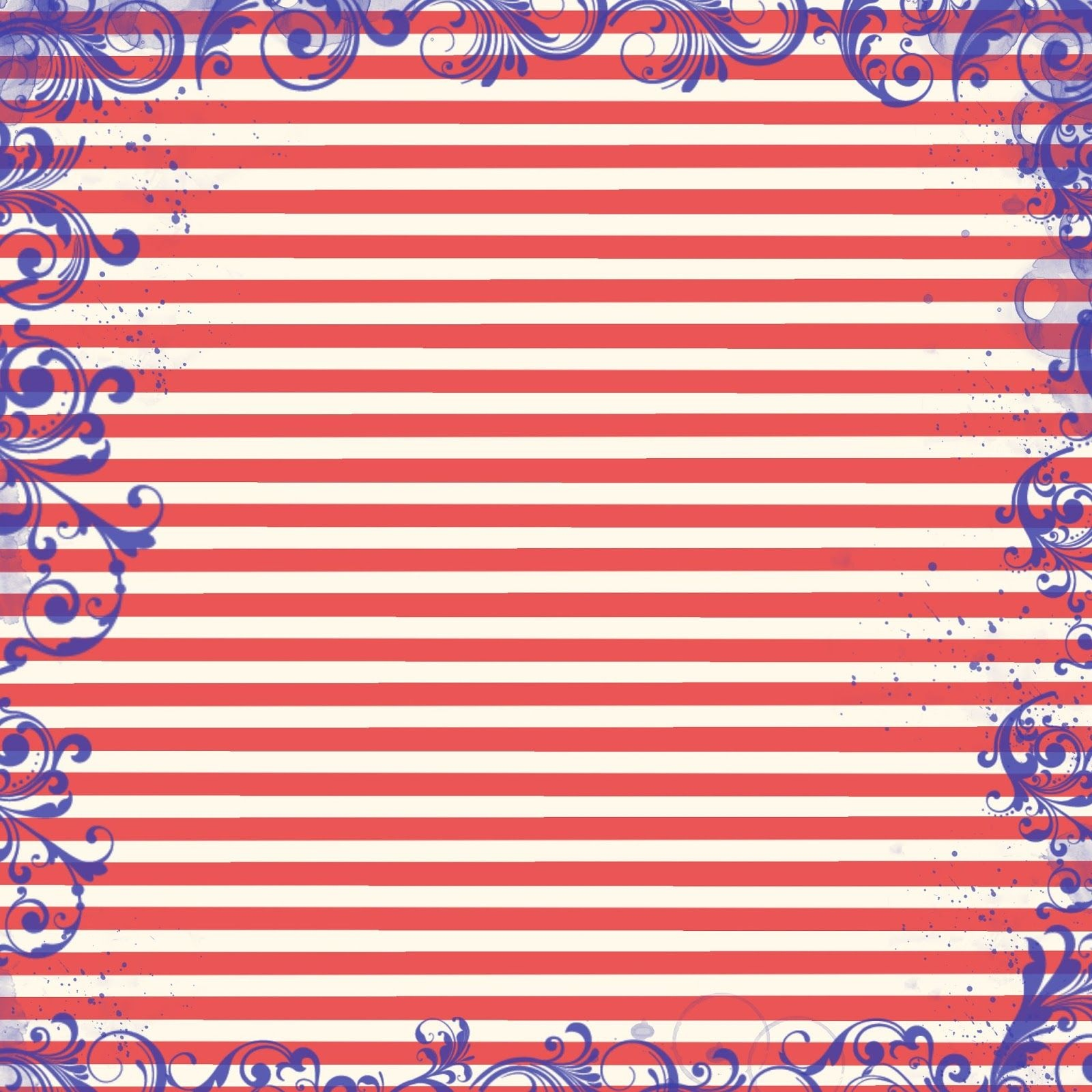 Free Digital Scrapbook Paper - Patriotic Red, White, And Blue - Free Printable Patriotic Scrapbook Paper