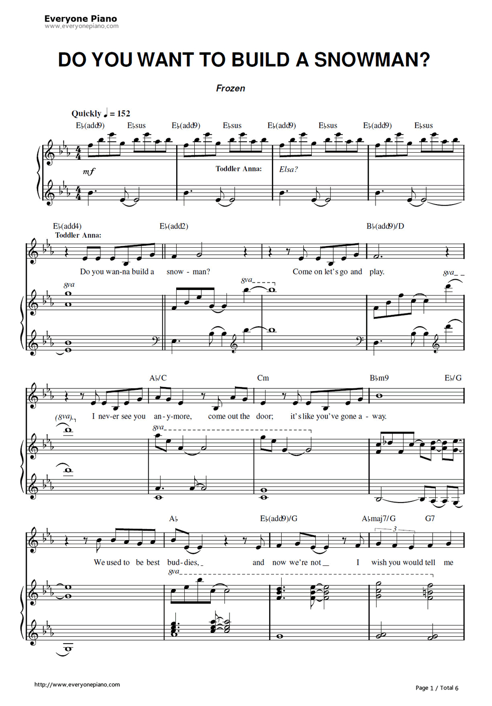 Free Do You Want To Build A Snowman-Frozen Ost Sheet Music Preview 1 - Let It Go Violin Sheet Music Free Printable