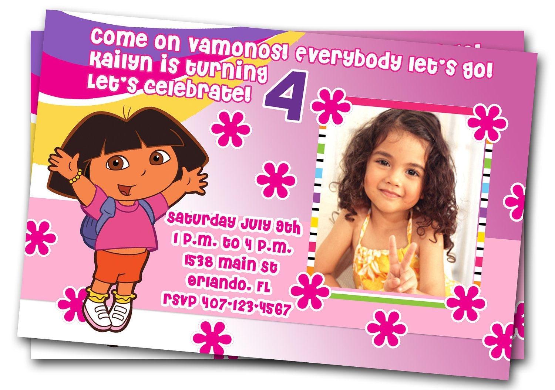 "Free Dora Birthday Card Invitations €"" Birthday Card Ideas | Diy - Dora Birthday Cards Free Printable"