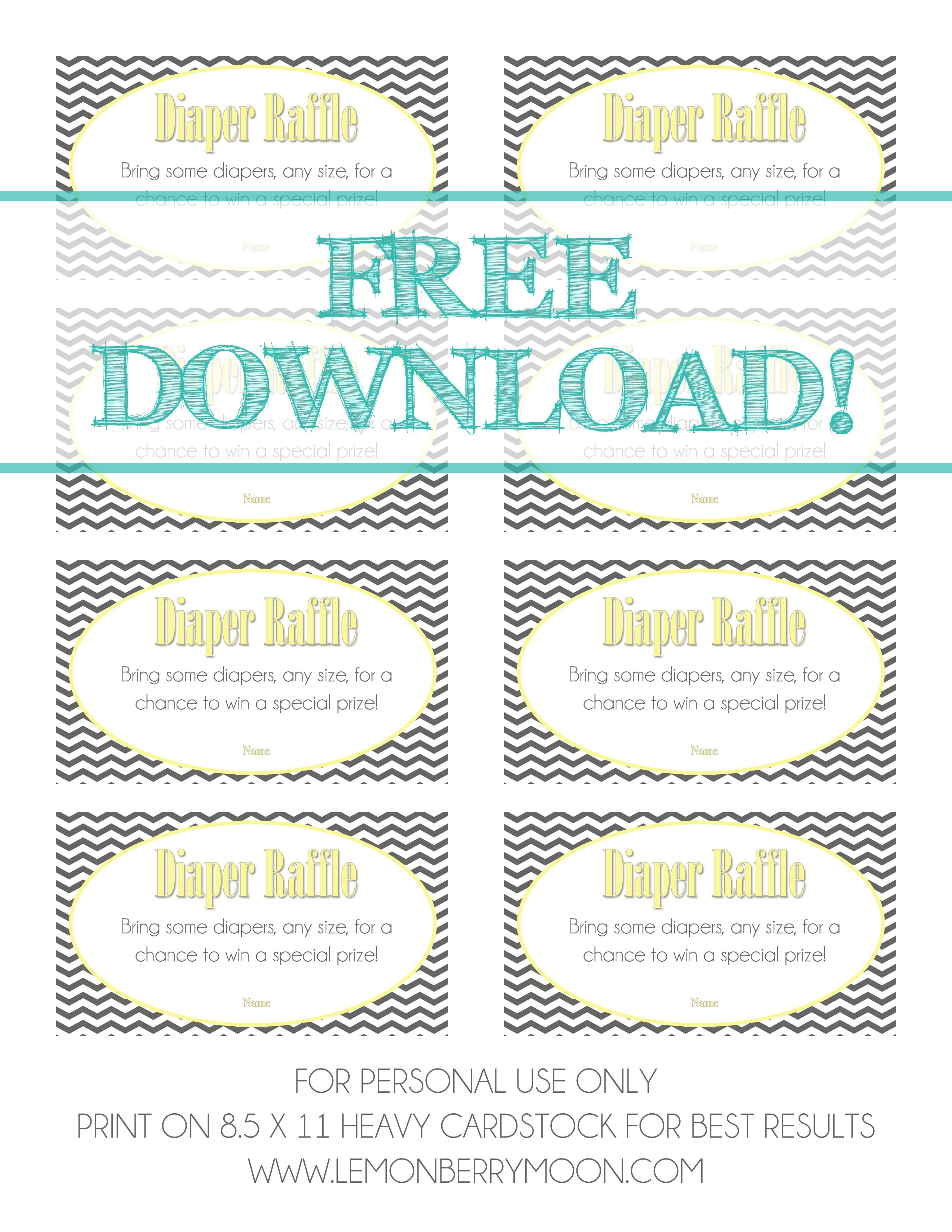 Free Download - Baby Diaper Raffle Template | Baaby Shower | Baby - Free Printable Baby Shower Diaper Raffle Tickets