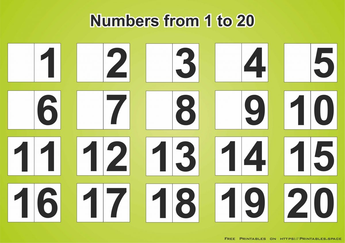 Free Download Printable Page With Numbers 1-20 - Free Printables - Free Printable Numbers 1 20