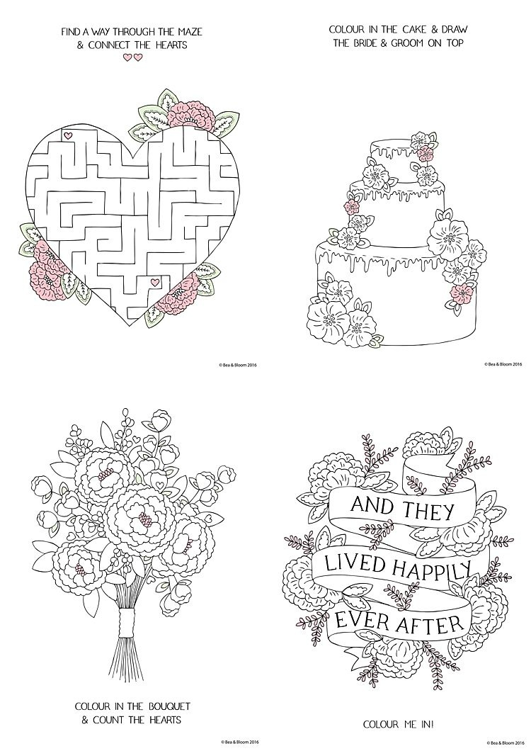 Free Download Printable Wedding Colouring Sheets For Kids | Going To - Free Printable Personalized Wedding Coloring Book