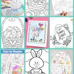 Free Easter Coloring Pages   Happiness Is Homemade   Free Printable Coloring Pages Easter Basket