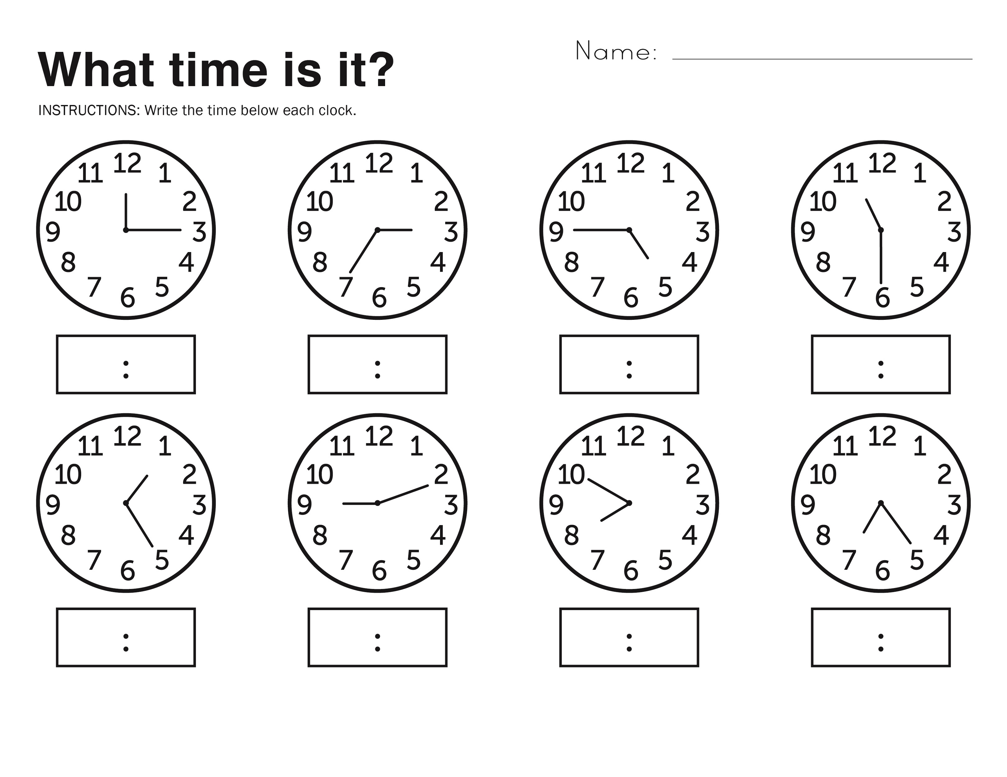 Free Easy Elapsed Time Worksheets | Activity Shelter - Free Printable Telling Time Worksheets