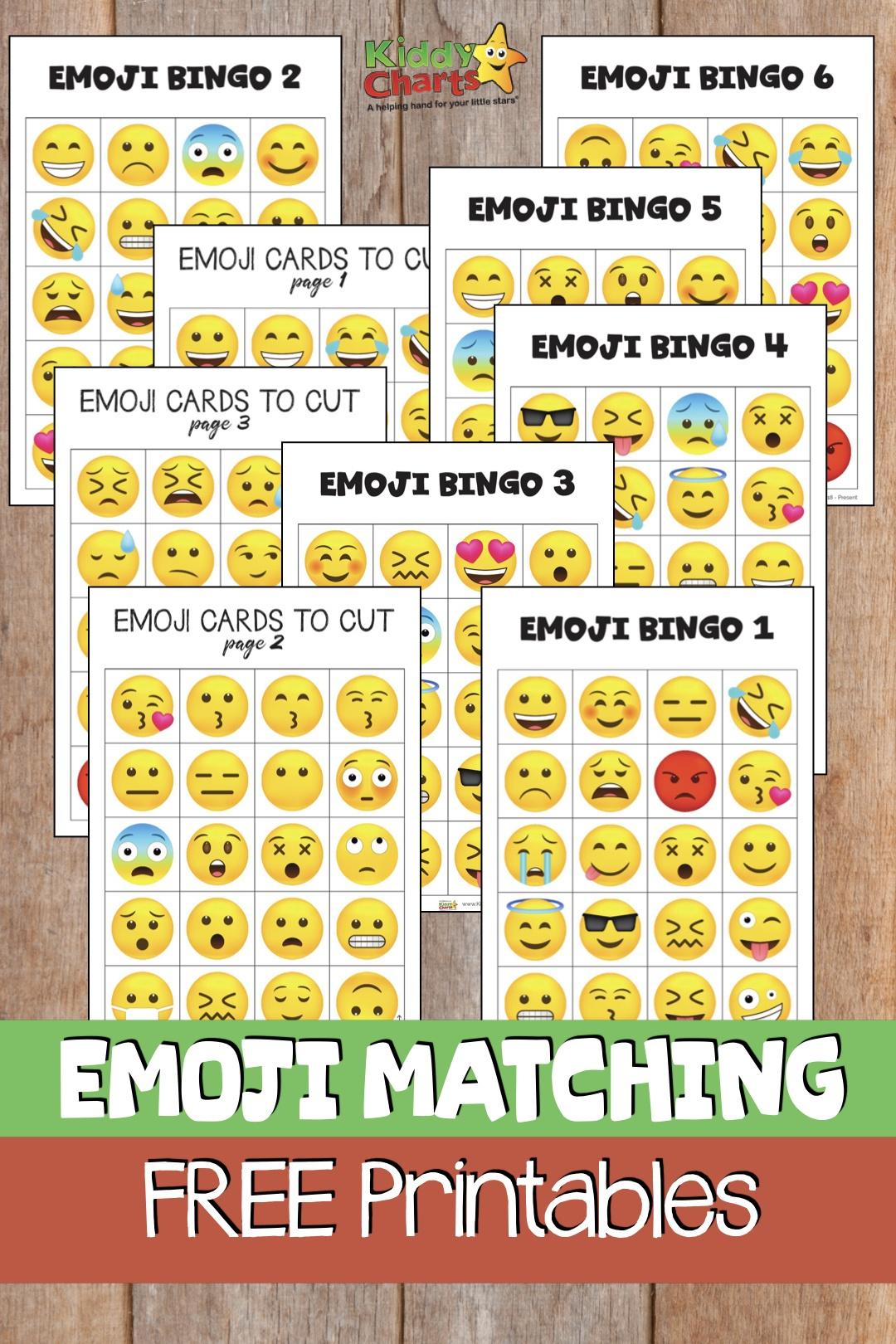 Free Emoji Bingo Game For Kids - Free Emoji Bingo Printable