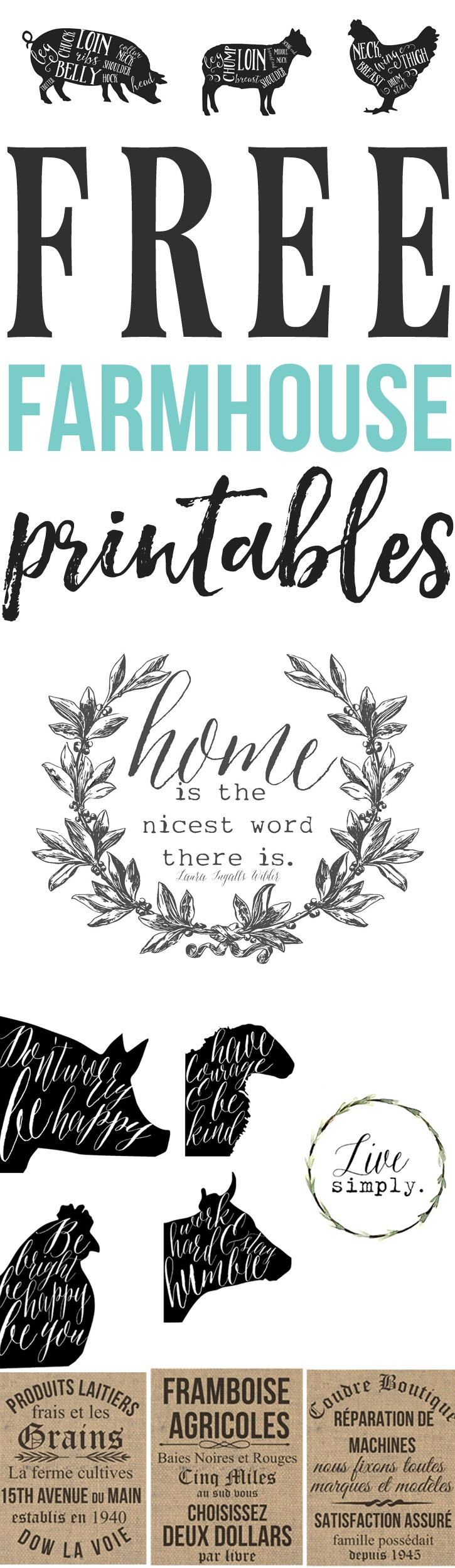 Free Farmhouse Printables For Your Home - The Mountain View Cottage - Free Printable Sud