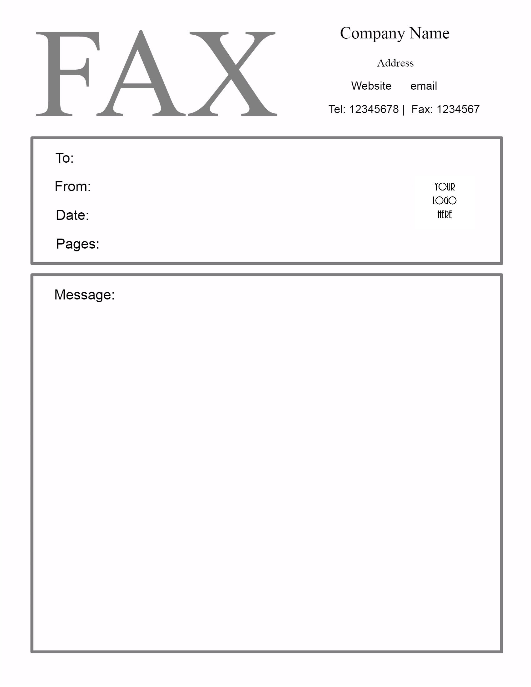 Free Fax Cover Sheet Template | Customize Online Then Print - Free Printable Message Sheets