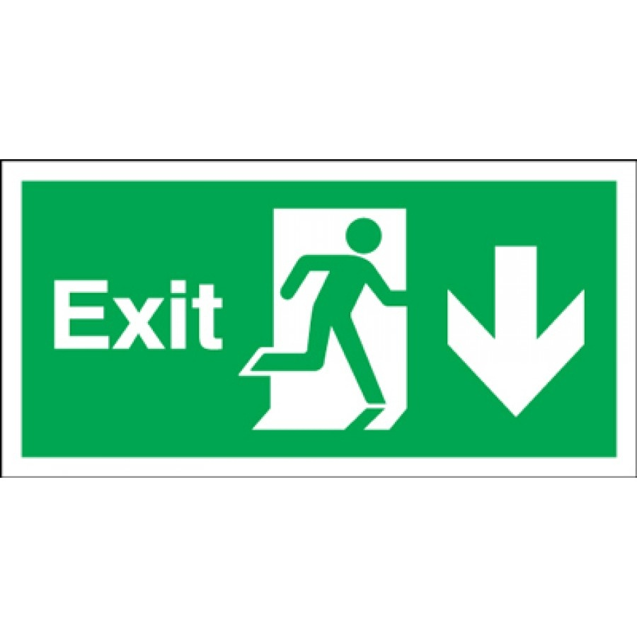 Free Fire Exit Signs, Download Free Clip Art, Free Clip Art On - Free Printable Exit Signs With Arrow