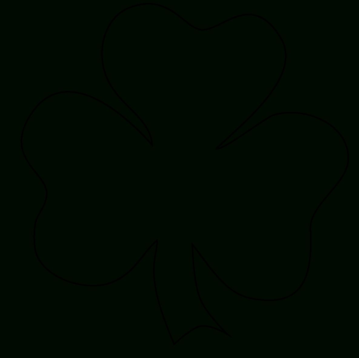 Free Four Leaf Clover Outline, Download Free Clip Art, Free Clip Art - Shamrock Template Free Printable
