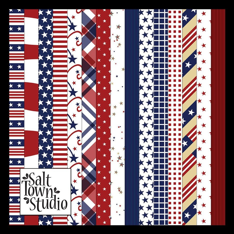 Free Freebie Printable Patriotic July 4Th Background Paper | Invites - Free Printable Patriotic Scrapbook Paper