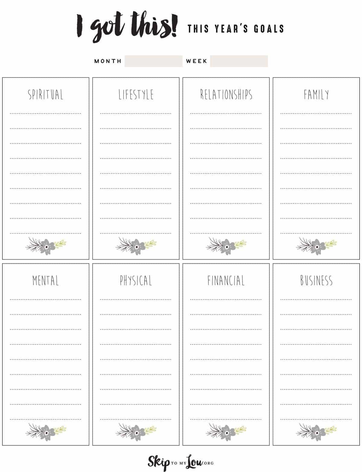 Free Goal Setting Worksheets | Skip To My Lou - Free Printable Goal Setting Worksheets For Students