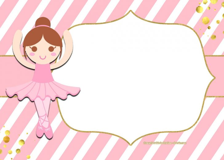 Free Printable Ballerina Birthday Invitations