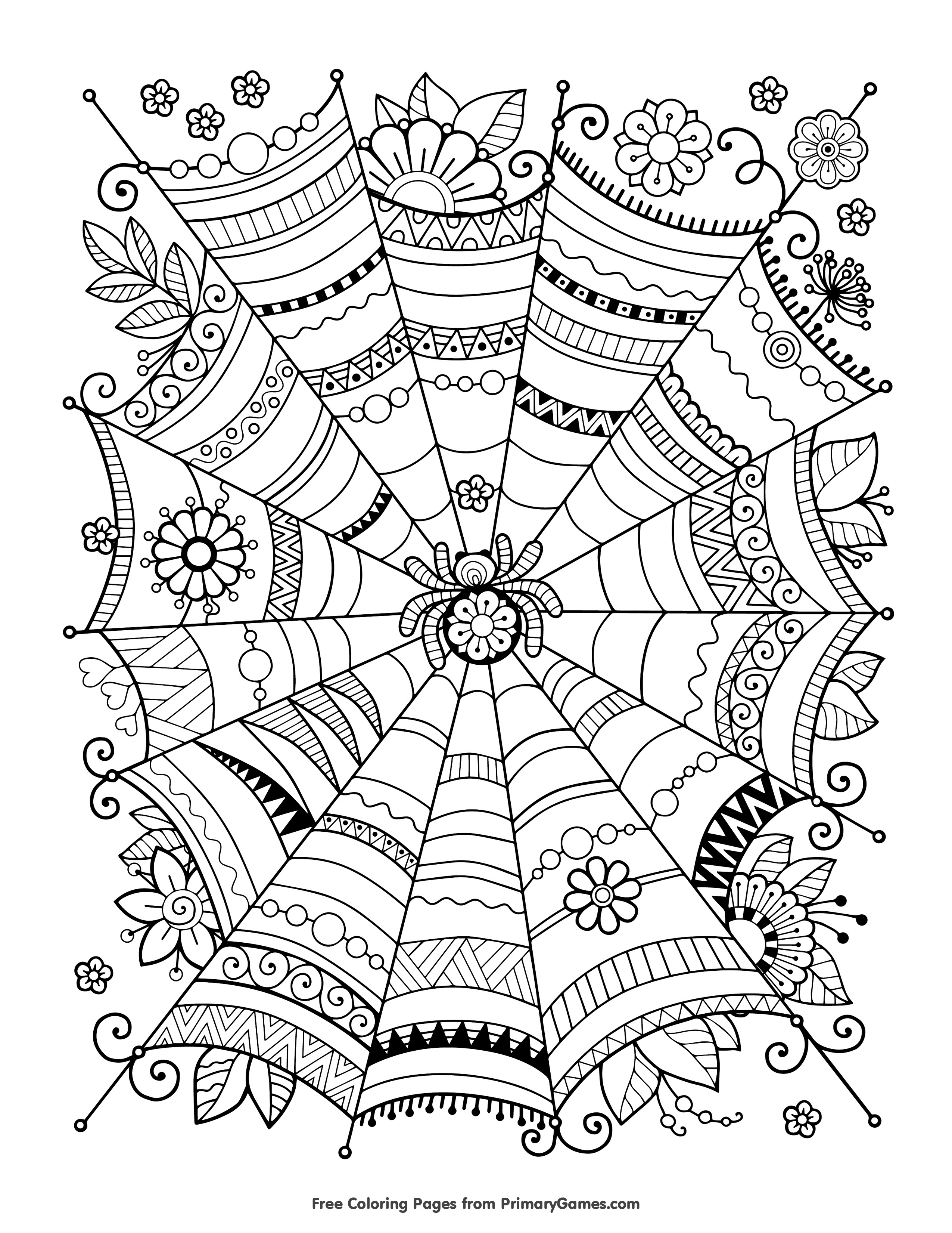 Free Halloween Coloring Pages For Adults & Kids - Happiness Is Homemade - Free Printable Coloring Cards For Adults