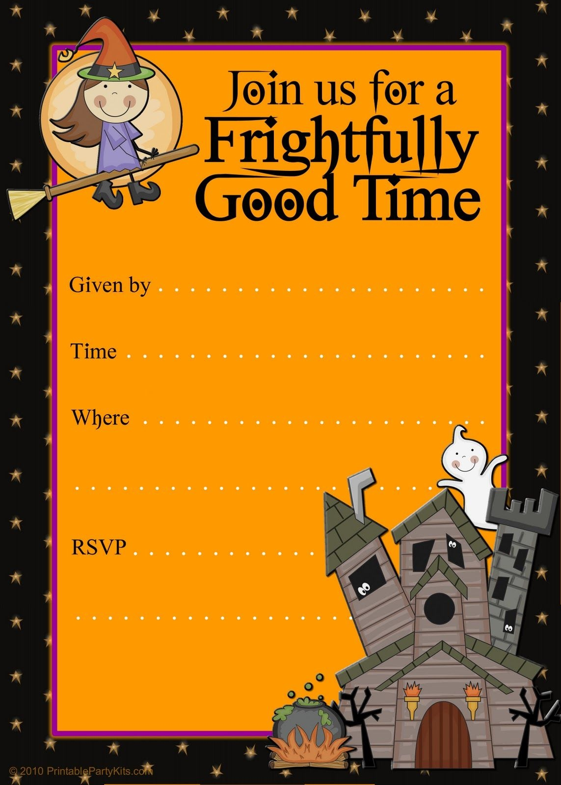 Free Halloween Flyer Invitations Printable | Food | Halloween - Free Printable Birthday Party Flyers