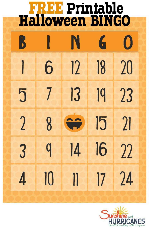 Free Halloween Printables - Bingo - Printable Bingo Template Free