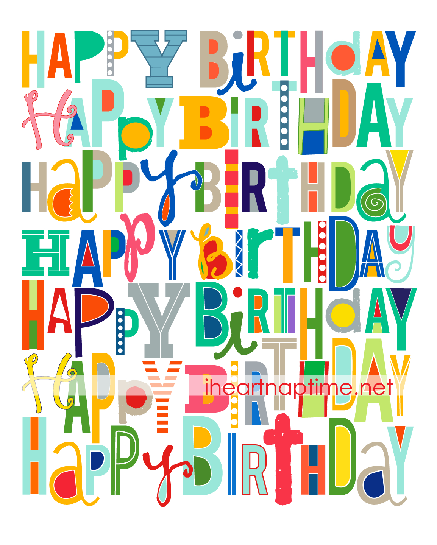 Free Happy Birthday Printable | Free Printables | Happy Birthday - Free Printable Happy Birthday Signs