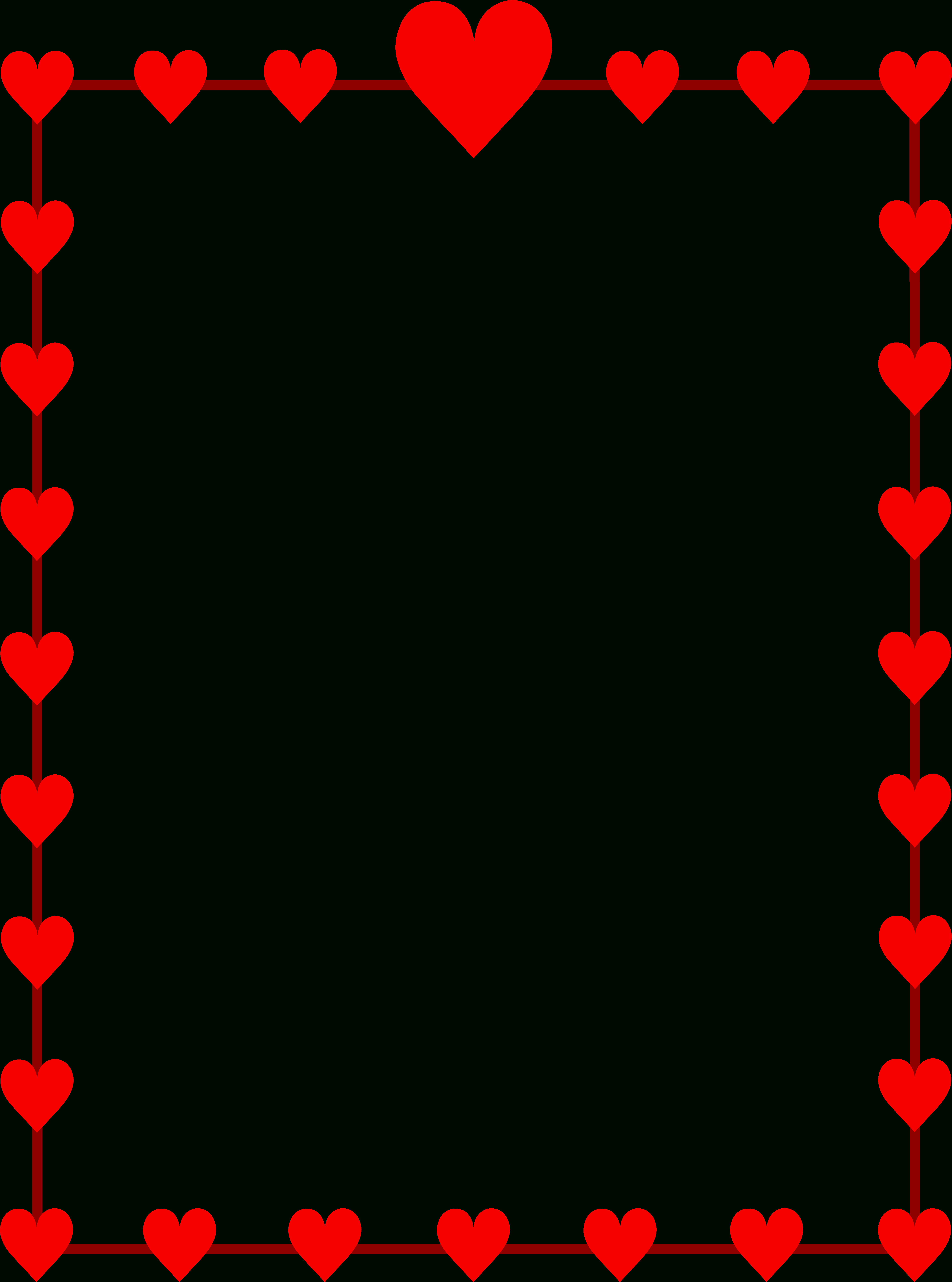 Free Heart Border For Word, Download Free Clip Art, Free Clip Art On - Free Printable Heart Designs