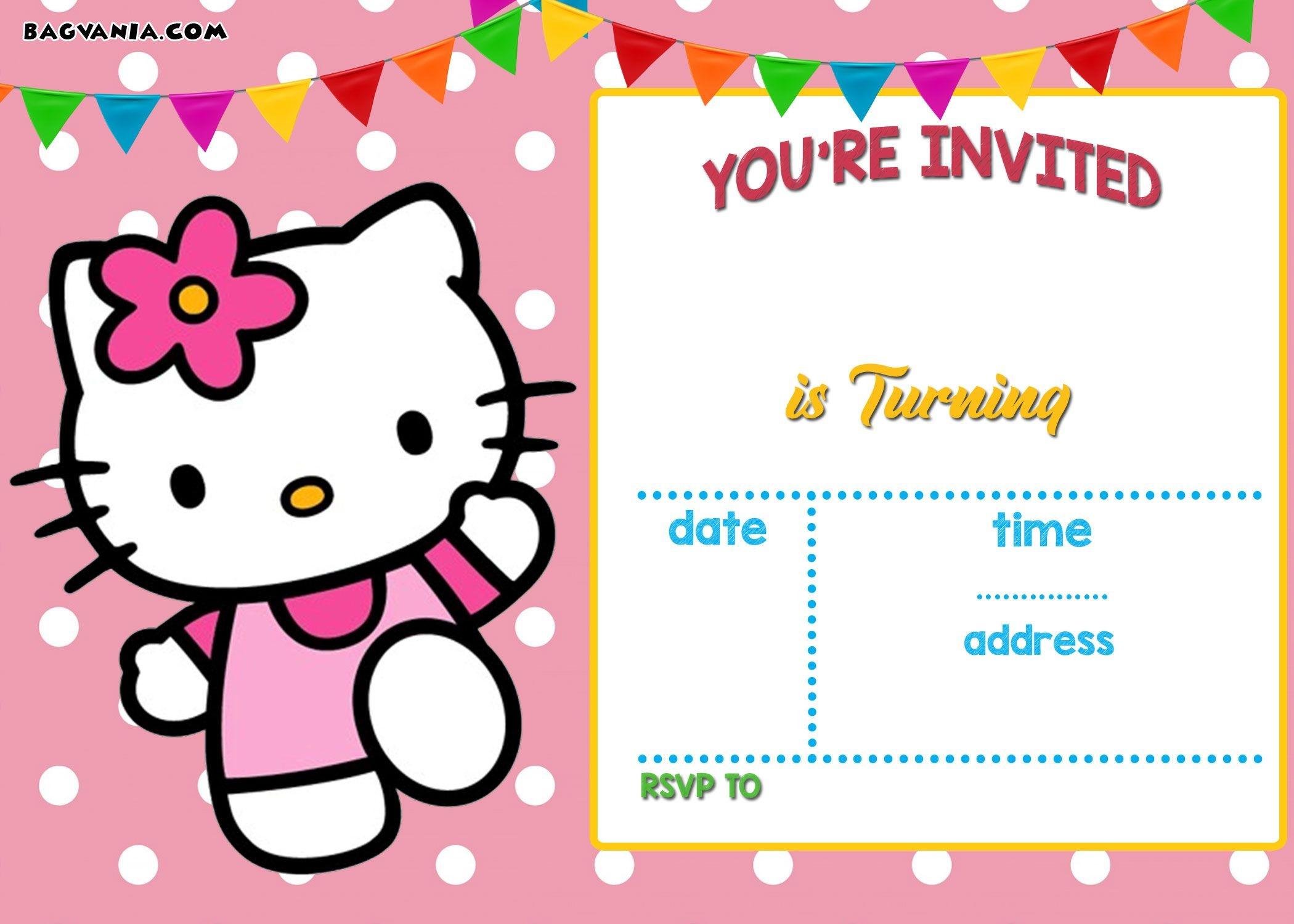 Free Hello Kitty Invitation Templates | Free Printable Birthday - Hello Kitty Free Printable Invitations For Birthday