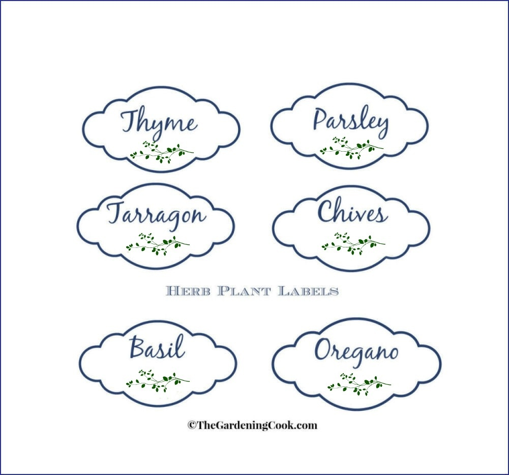 Free Herb Plant Labels For Mason Jars And Pots - Free Printable Herb Labels