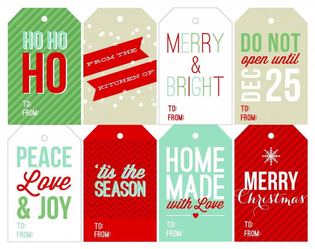 Free Holiday Printable Gift Tags - Free Printable Christmas Tags