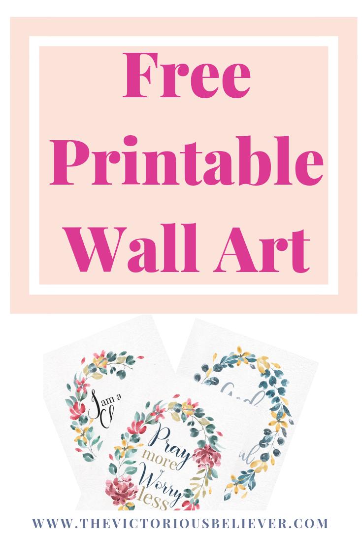 Free Inspirational Printable Wall Art   Edifying Blog Posts - Free Printable Christian Art
