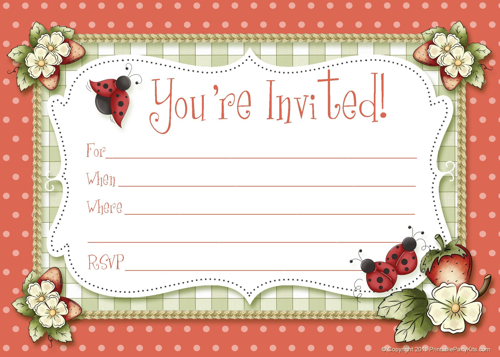Free Invitation Card Maker Printable - Party Invitation Collection - Make Printable Party Invitations Online Free