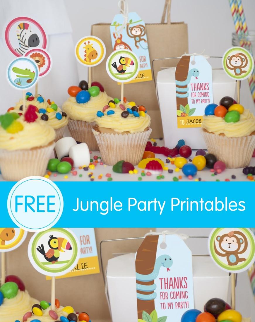 Free Jungle Party Invitation Printables - Jungle Theme Birthday Invitations Free Printable