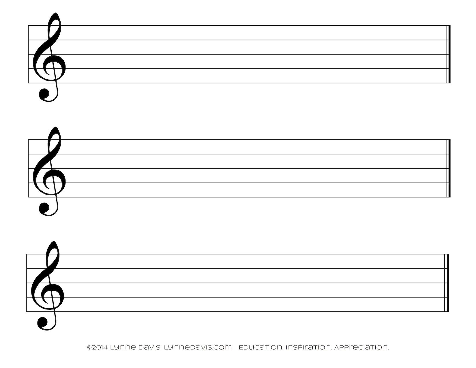 Free Large Staff Paper - Kaza.psstech.co - Free Printable Music Staff