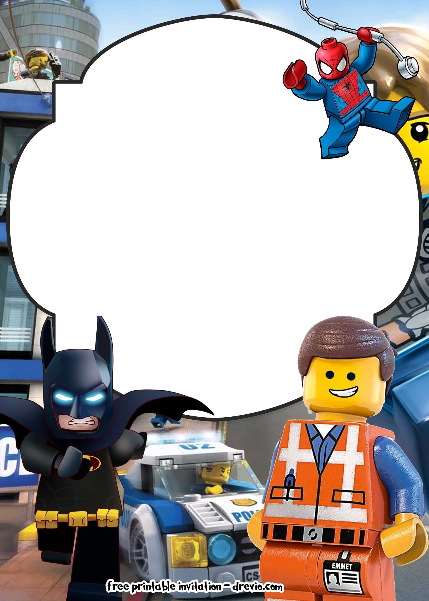 Free Lego Movie Invitations For | Free Printable Birthday - Lego Batman Invitations Free Printable