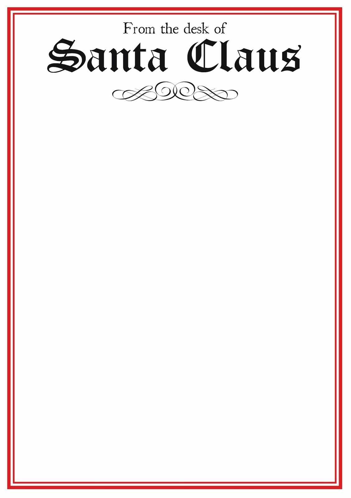 Free Letter From Santa Word Template - Tutlin.psstech.co - Free Printable Letter From Santa Template