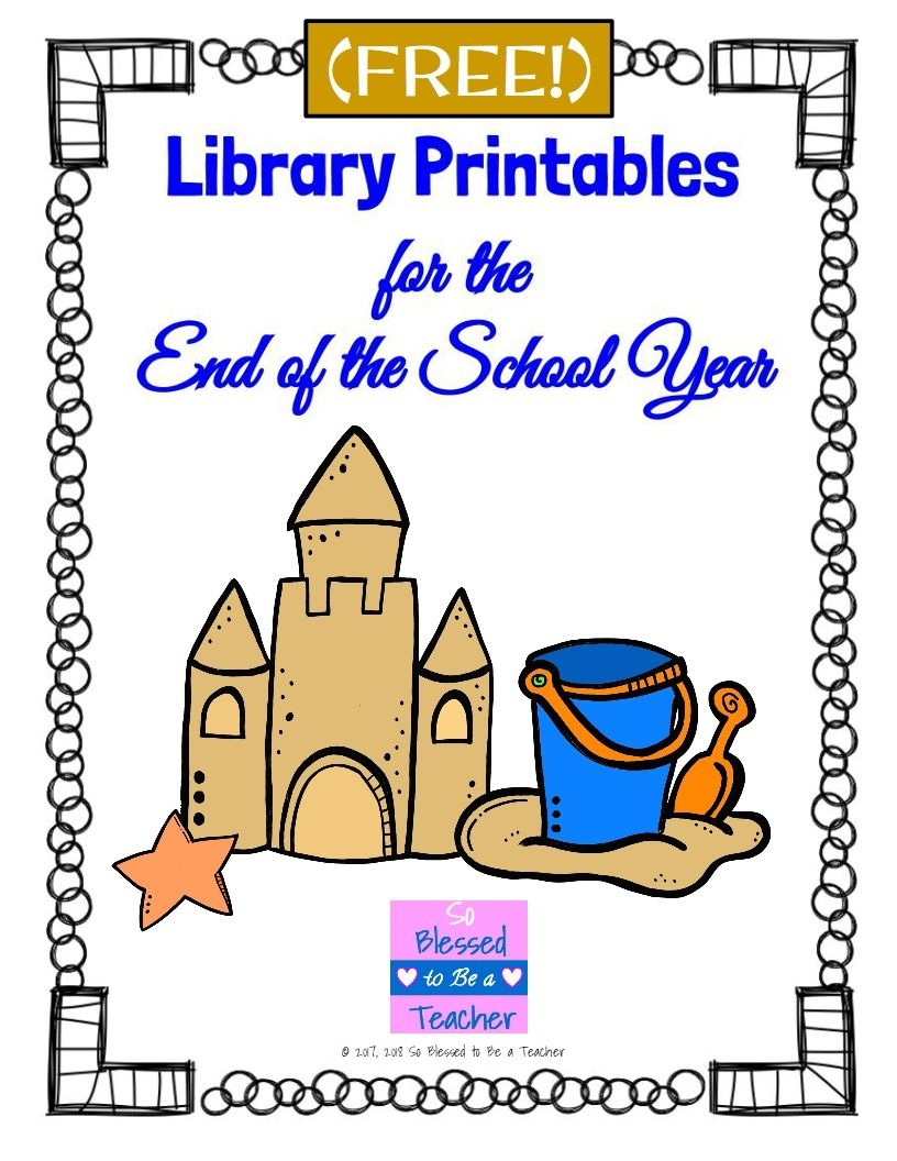 Free!} Library Worksheets For The End Of The School Year   Tpt - Free Library Skills Printable Worksheets