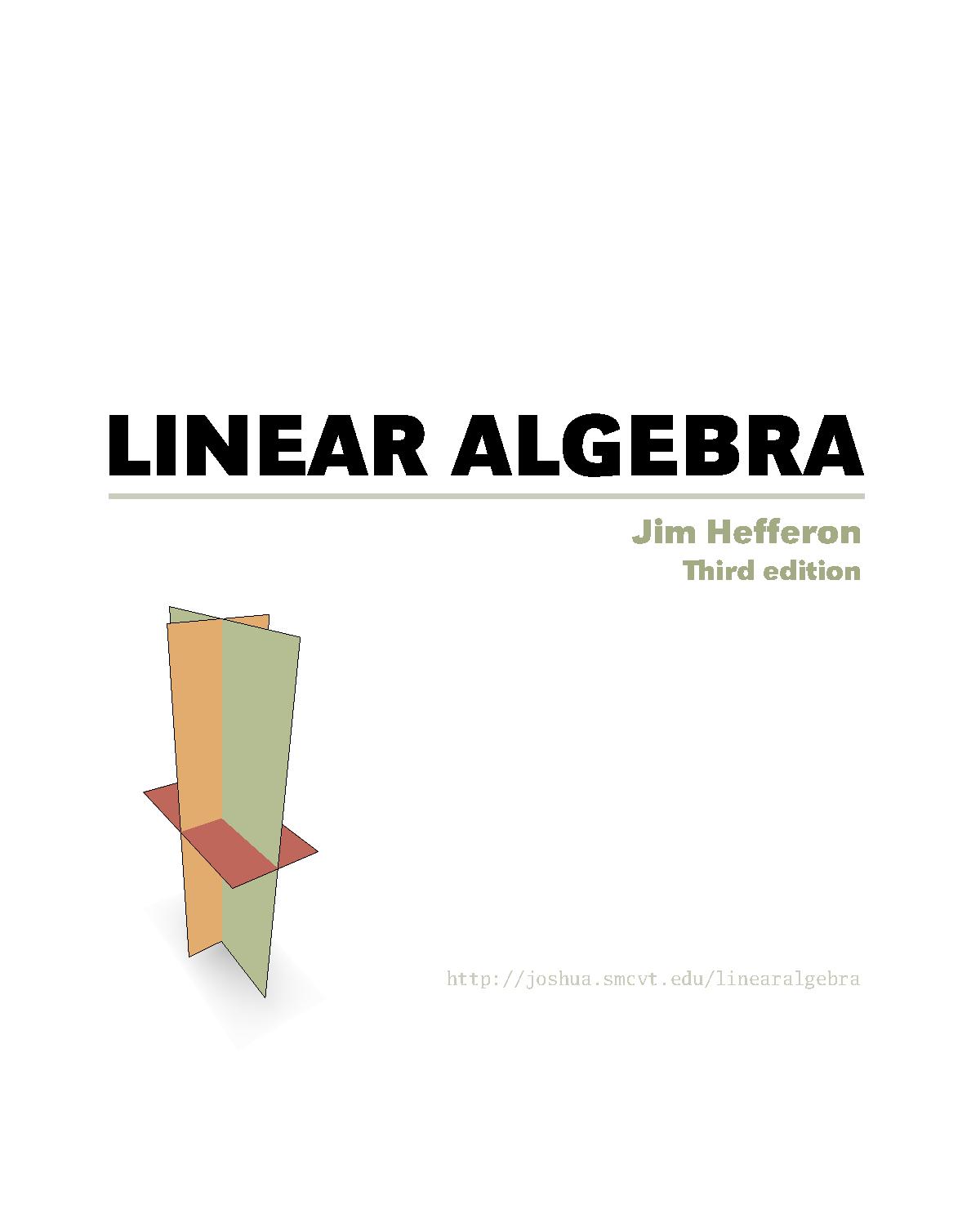 Free Linear Algebra Textbook - Free Printable Textbooks