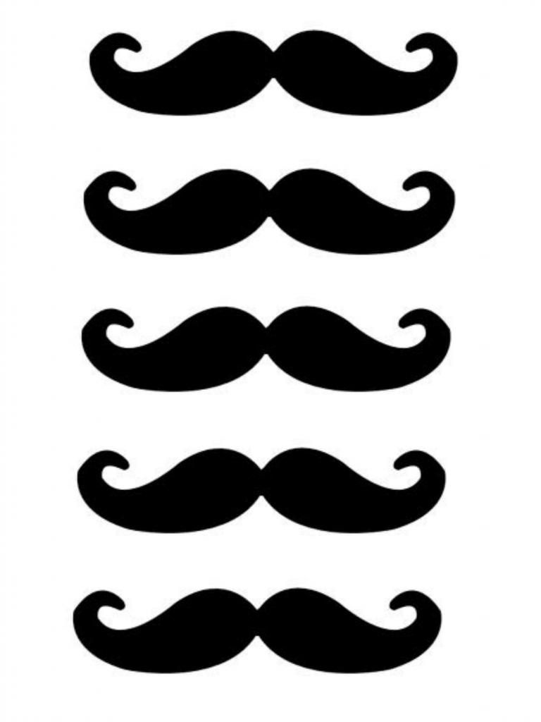 Free Lip And Mustache Printables: Photo Booth Props | Crafts | Photo - Free Printable Mustache