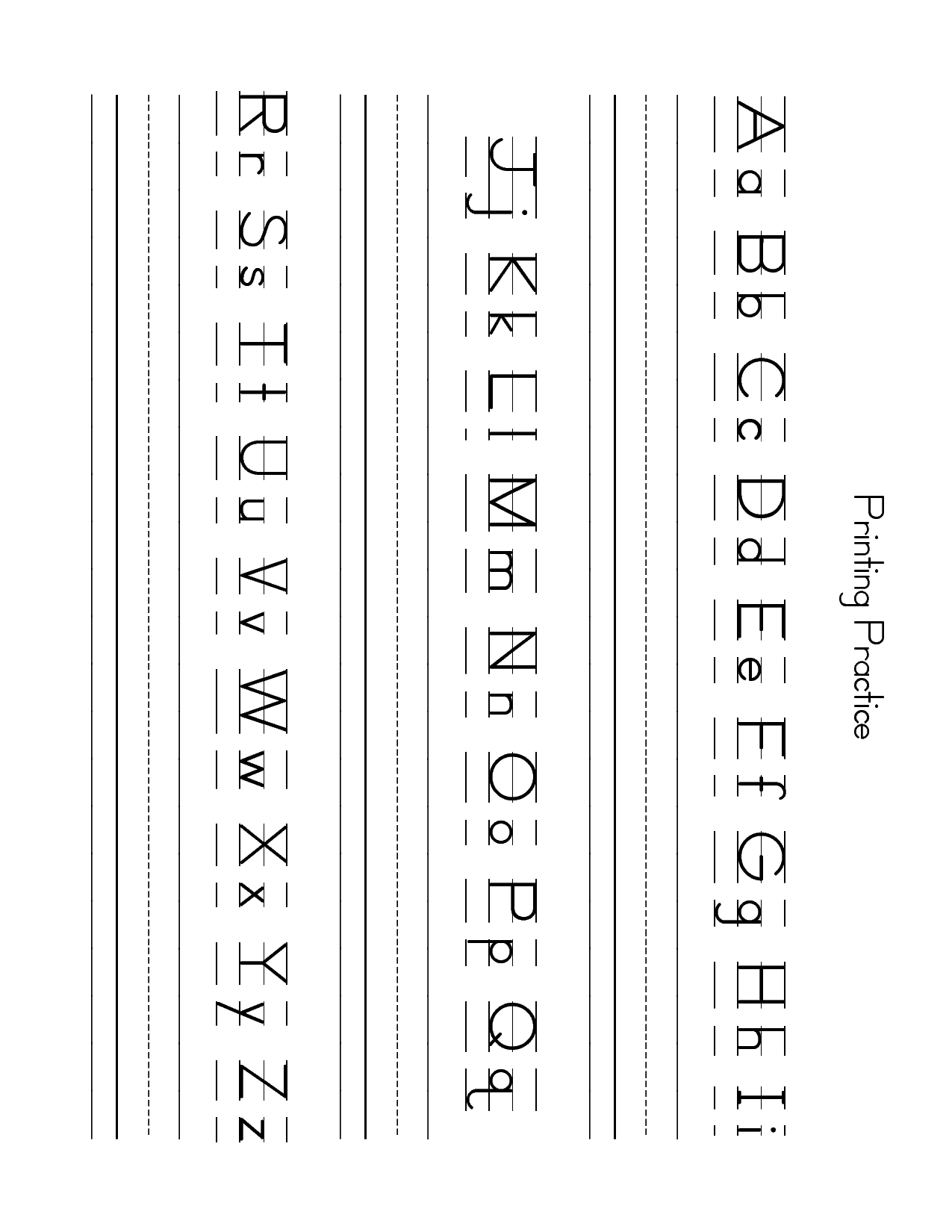 Free Lowercase Letter Worksheets | Zb Printing Practice Sheet - Free Printable Lower Case Letters
