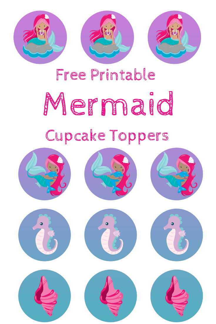 Free Mermaid Cupcake Toppers, Print Out And Pimp Your Cupcakes - Free Printable Mermaid Cupcake Toppers