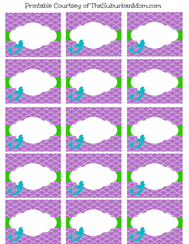 Free Mermaid Party Printables | - Free Printable Mermaid Thank You Cards