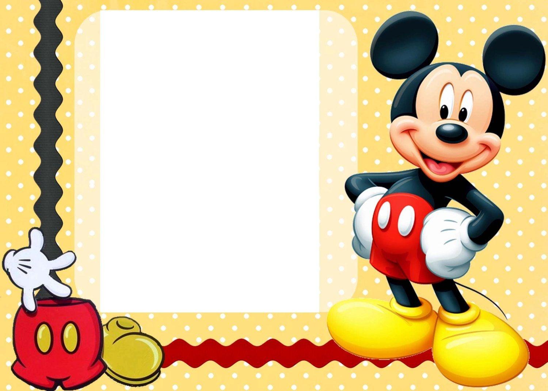 Free Mickey Mouse Birthday Invitations - Kaza.psstech.co - Free Printable Mickey Mouse Birthday Invitations